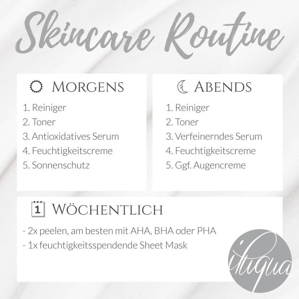 Hautpflege Routine für fettige Haut